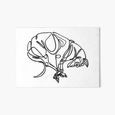 Greyhound Continuous Linework  Art Board Print