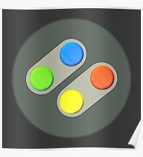 SNES Buttons Poster