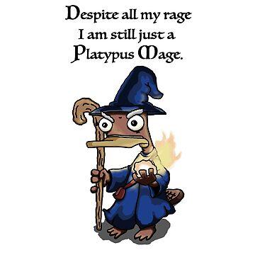 Despite all my Rage I am still just a Platypus Mage by squoose