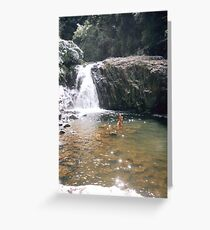 Crystal Cascades. Greeting Card