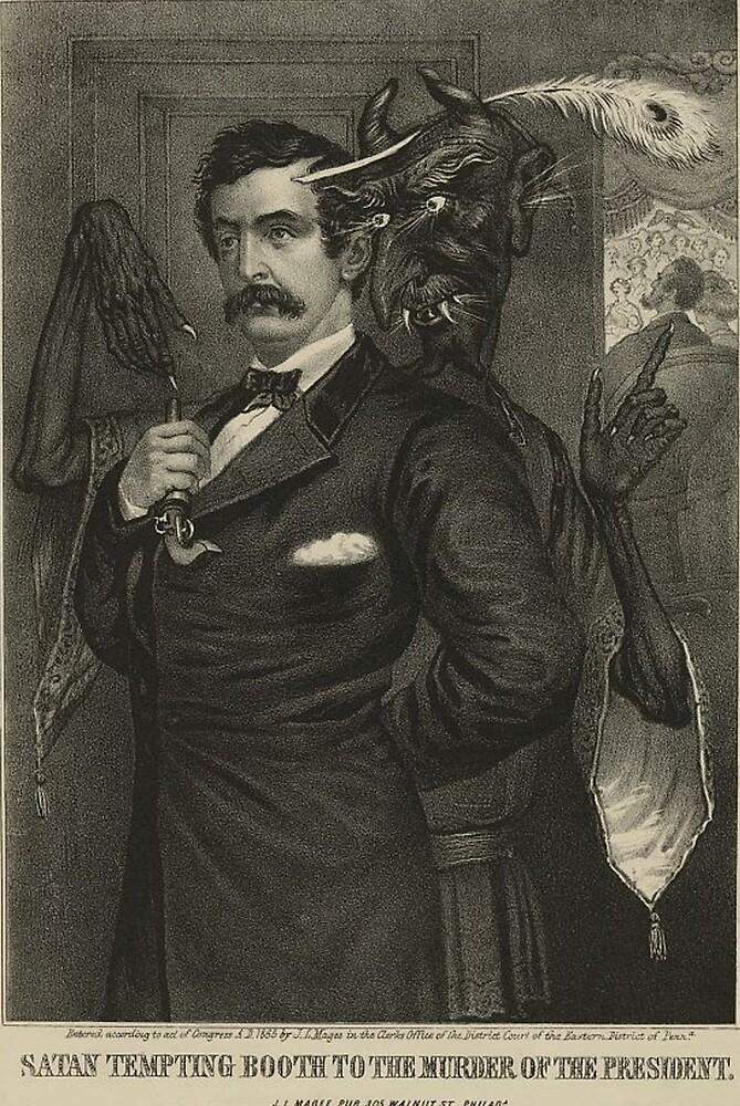 Political Cartoon: Satan Tempts John Wilkes Booth. by AkuHDesiG