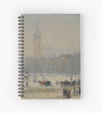 Snowstorm Madison Square Childe Hassam Spiral Notebook