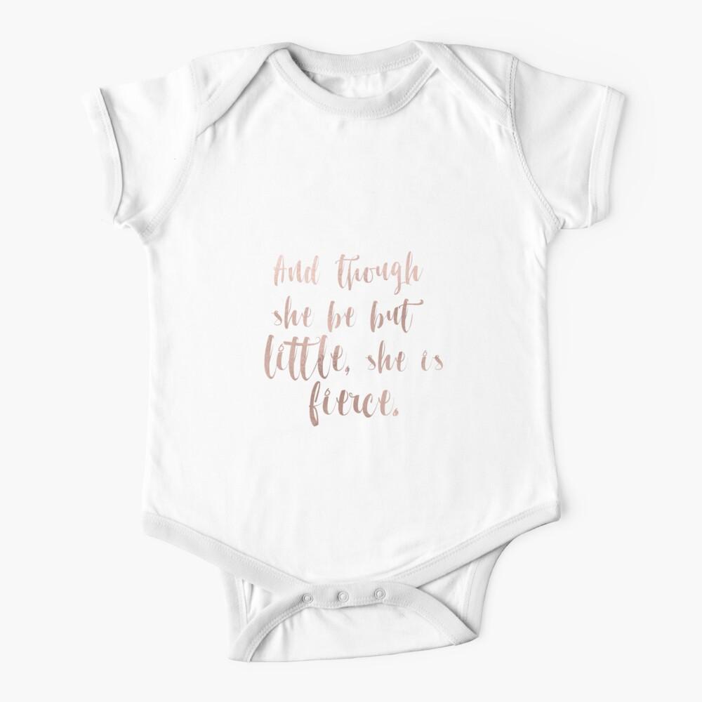 Obwohl sie nur wenig ist, ist sie wild - Roségold Baby Body