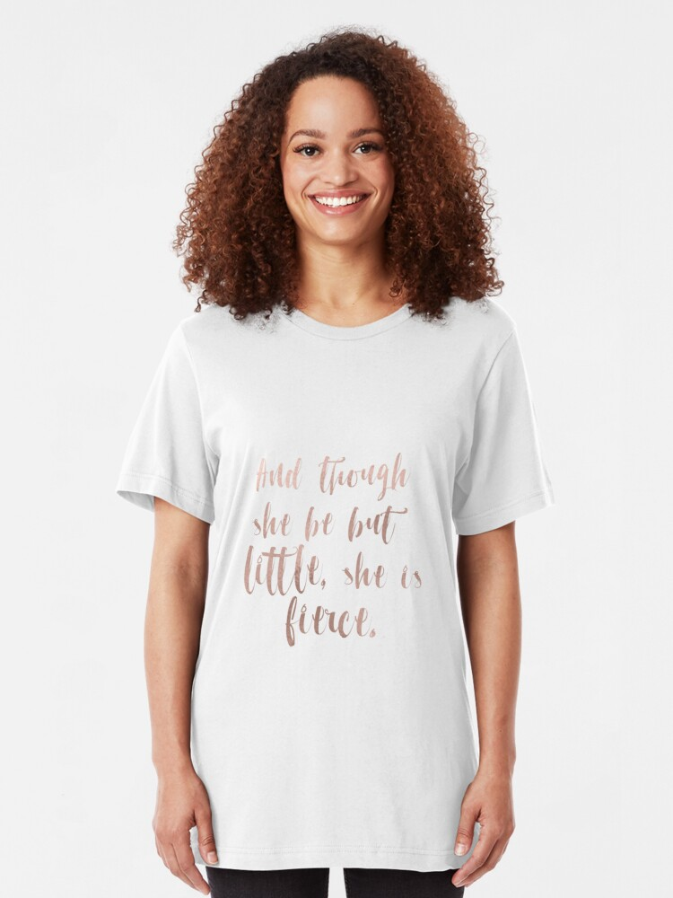 Alternative Ansicht von Obwohl sie nur wenig ist, ist sie wild - Roségold Slim Fit T-Shirt