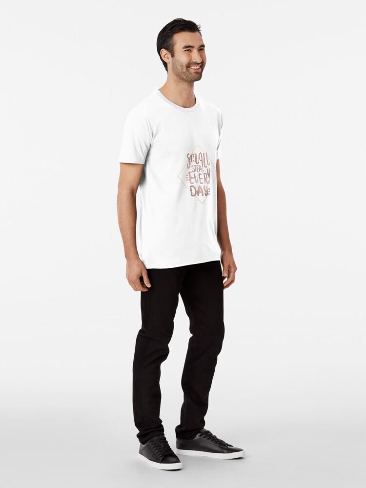 Alternative Ansicht von Kleine Schritte - Roségold-Zitat Premium T-Shirt