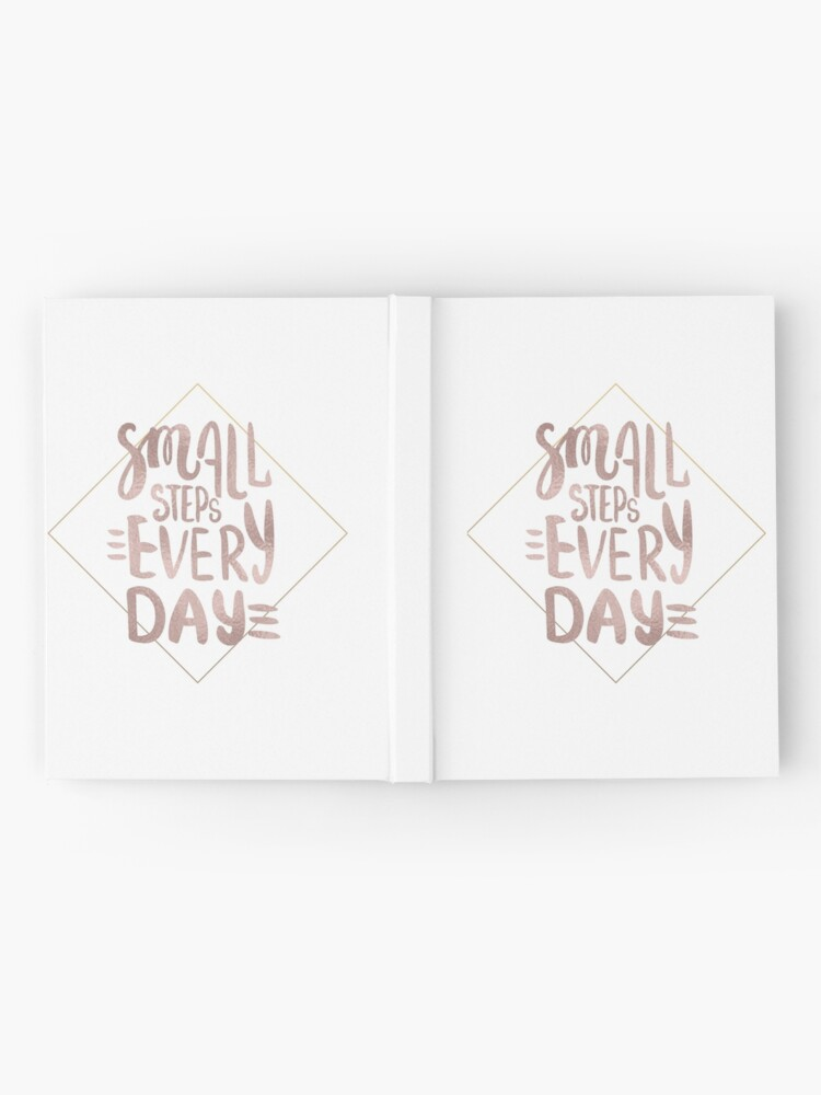 Alternative Ansicht von Kleine Schritte - Roségold-Zitat Notizbuch