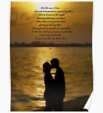 For the one I love Poster