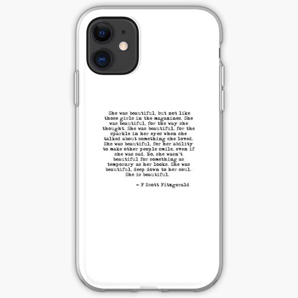 She was beautiful - F Scott Fitzgerald iPhone Soft Case