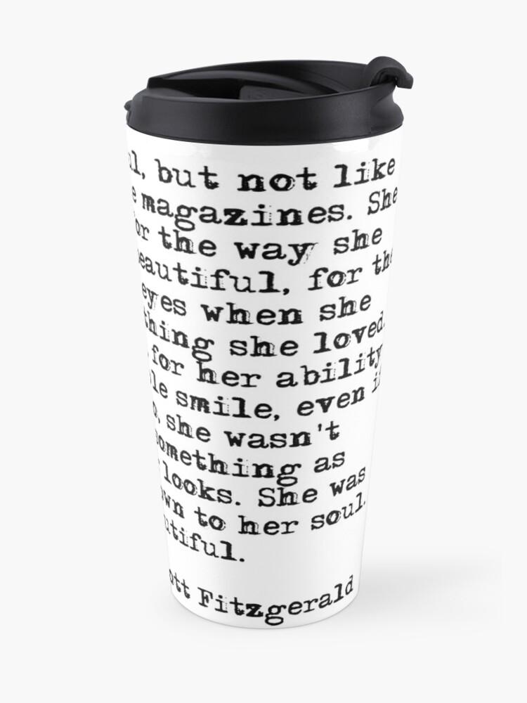 Alternative Ansicht von Sie war wunderschön - F Scott Fitzgerald Thermobecher