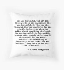 Cojín Ella era hermosa - F Scott Fitzgerald
