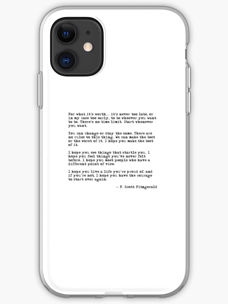 She was beautiful - F Scott Fitzgerald iPhone 11 case