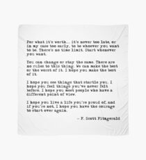 For what it's worth - F Scott Fitzgerald quote Scarf