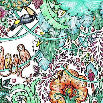 Jungles for Mawgli. Illustration by kira-culufin
