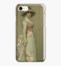 Nocturne in pink and gray, portrait of Lady Meux 1881 James Abbott McNeill Whistler iPhone Case/Skin