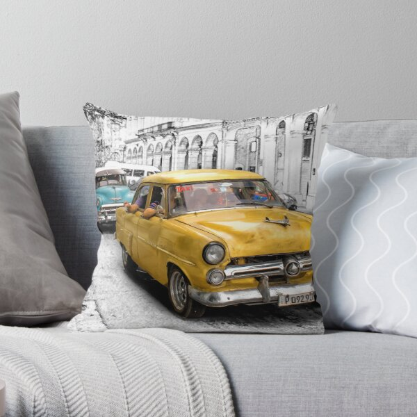 1952 Ford Customline Sedan Throw Pillow