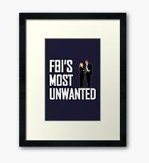 FBI's Most Unwanted Framed Print