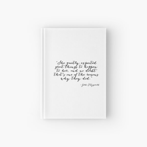 She quietly expected great things Hardcover Journal