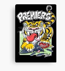 AFL Tigers 2017 - 'We smashed 'em' in black Canvas Print