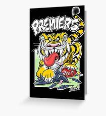 AFL Tigers 2017 - 'We smashed 'em' in black Greeting Card