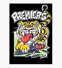 AFL Tigers 2017 - 'We smashed 'em' in black Photographic Print