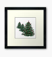 Happy Holidays Holiday Tree  Framed Print