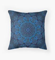 Circuitry Mandala Squared Throw Pillow