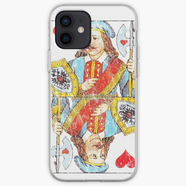 Vintage Jack of Hearts Playing Card iPhone Soft Case