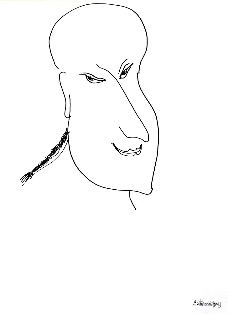 Abstract sketch of face XII by Solotry