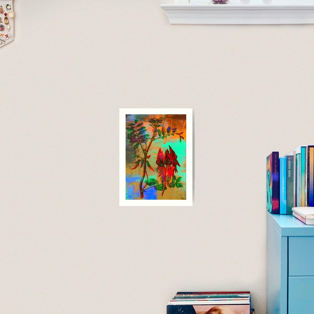 Botanical Print-Sturt Pea-Australia's Wildflower Art Print