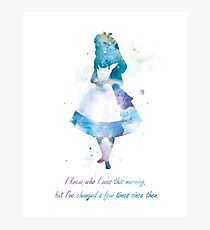 Alice Photographic Print