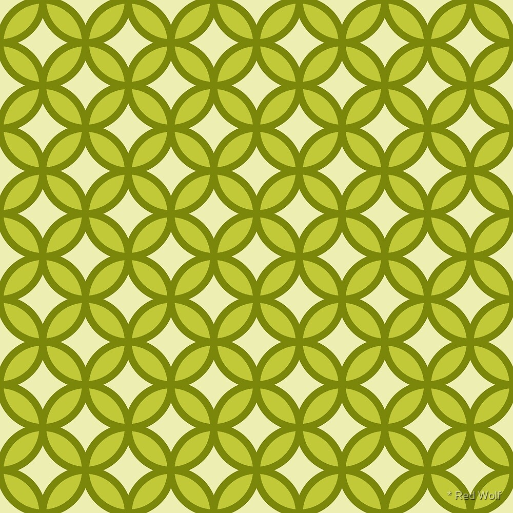 Geometric Pattern: Circle: Green by * Red Wolf