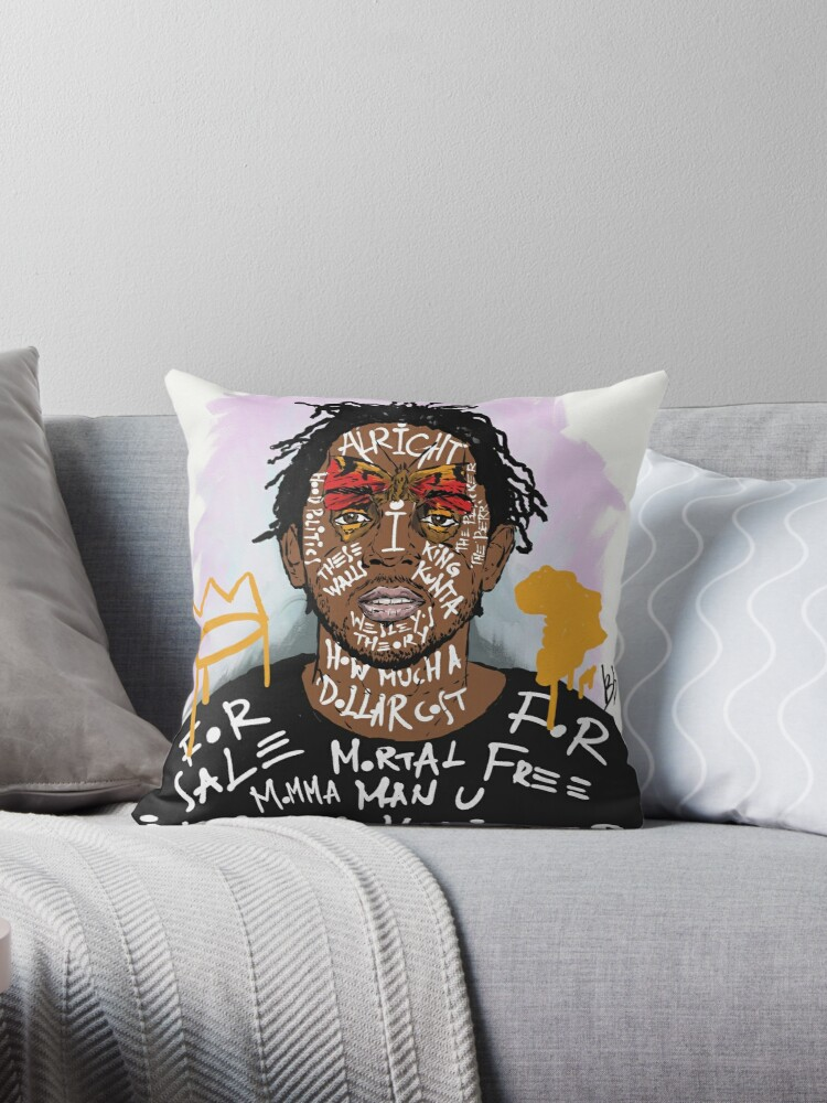 Kendrick Lamar Throw Pillow By Bokkaboom Redbubble