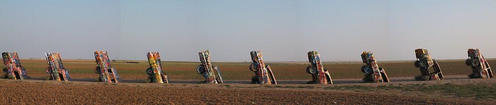 Cadillac Ranch, TX by Michael Gorham