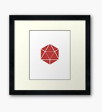 Dice - Dice Blocks Triangle Sides Angle Gaming Gamer Video Games Role Playing Games RPG Framed Print