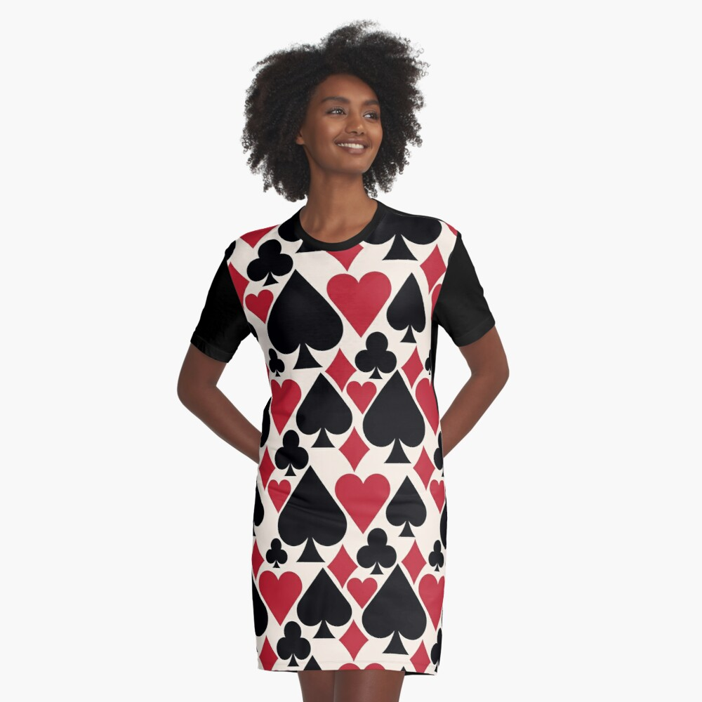 Casino Fun Graphic T-Shirt Dress