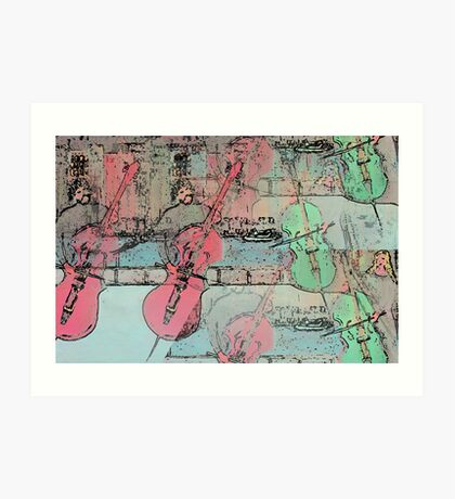 The  Heavenly Music of  Cello  Players   Art Print