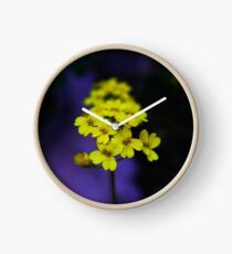 yellow flower Clock