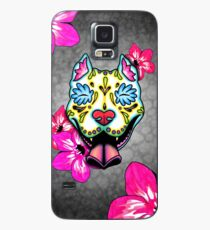 Slobbering Pit Bull - Day of the Dead Sugar Skull Pitbull Dog Case/Skin for Samsung Galaxy