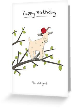 Birthday Card - Goat by maxhornewood