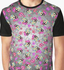 Slobbering Pit Bull - Day of the Dead Sugar Skull Pitbull Dog Graphic T-Shirt
