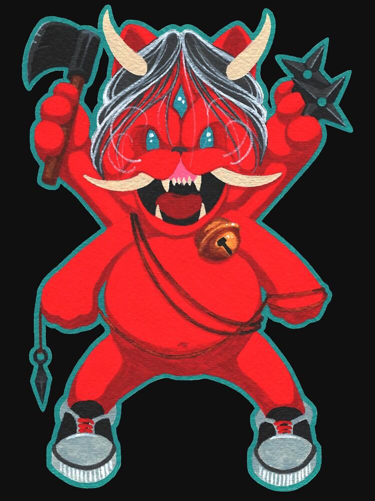 Karma Assassinslucky Oni Cat Vengeance Mode Unisex T Shirt By