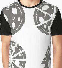 Pizza  Icon Isolated on White Background. Silhouette of Pizza Graphic T-Shirt