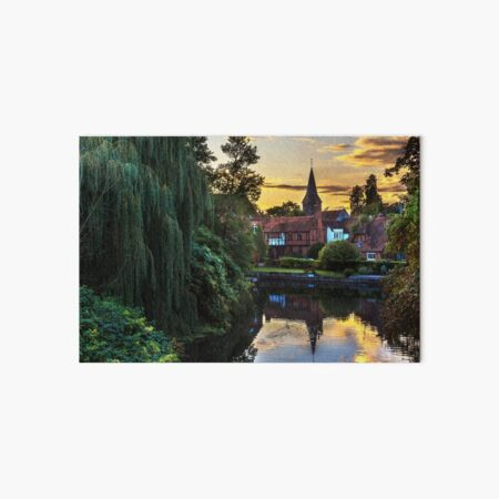 Early Evening Whitchurch on Thames Art Board Print