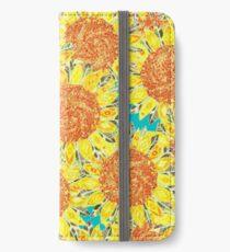 Sonnenblumenfeld iPhone Flip-Case/Hülle/Skin