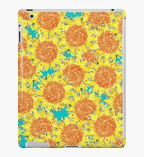 sunflower field iPad Case/Skin