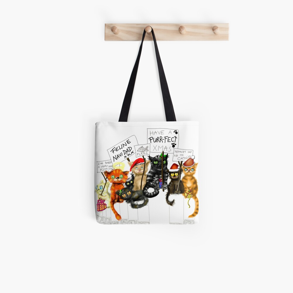 A Cat Christmas  Tote Bag