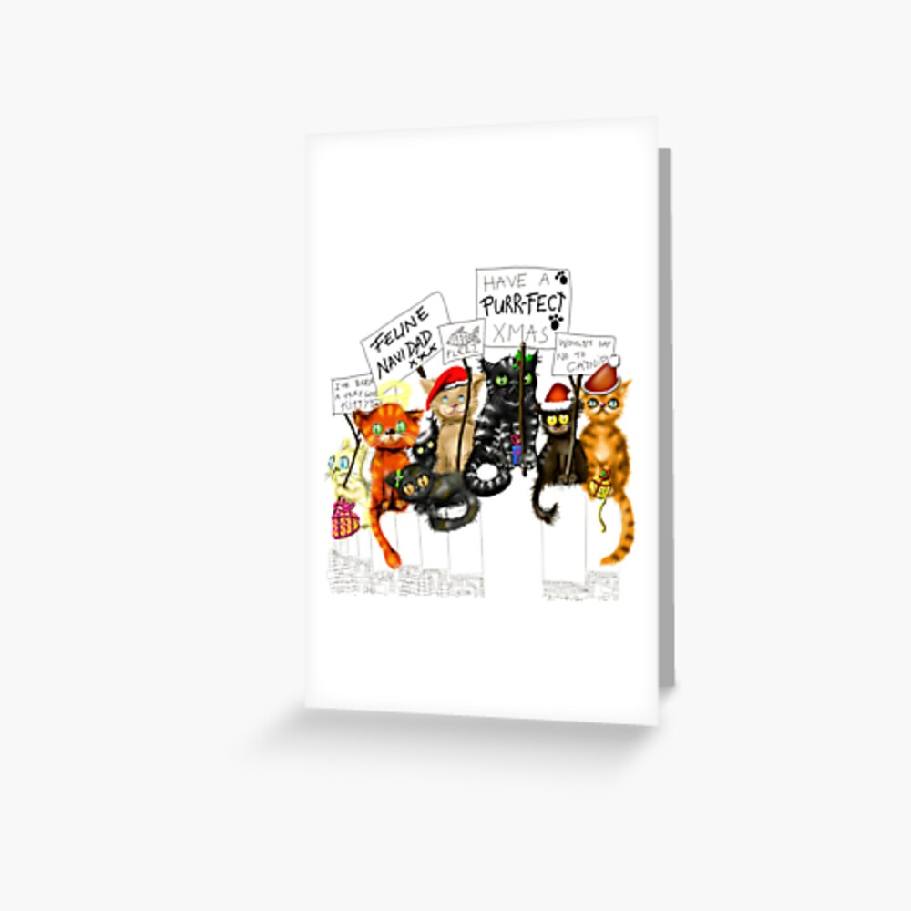 A Cat Christmas  Greeting Card