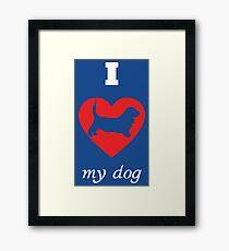 Basset Hound - I Love My Dog Framed Print