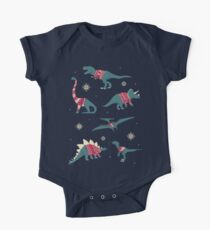 Dinos In Sweaters One Piece - Short Sleeve