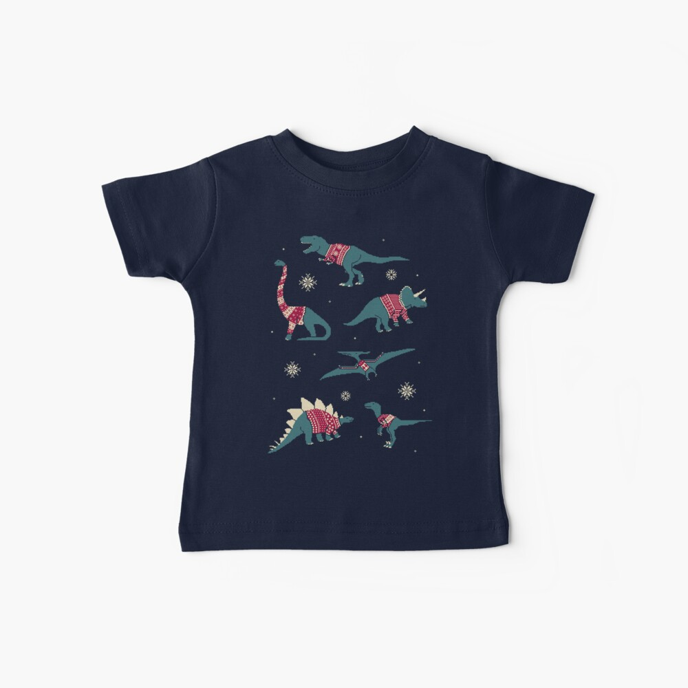 Dinos In Sweaters Baby T-Shirt